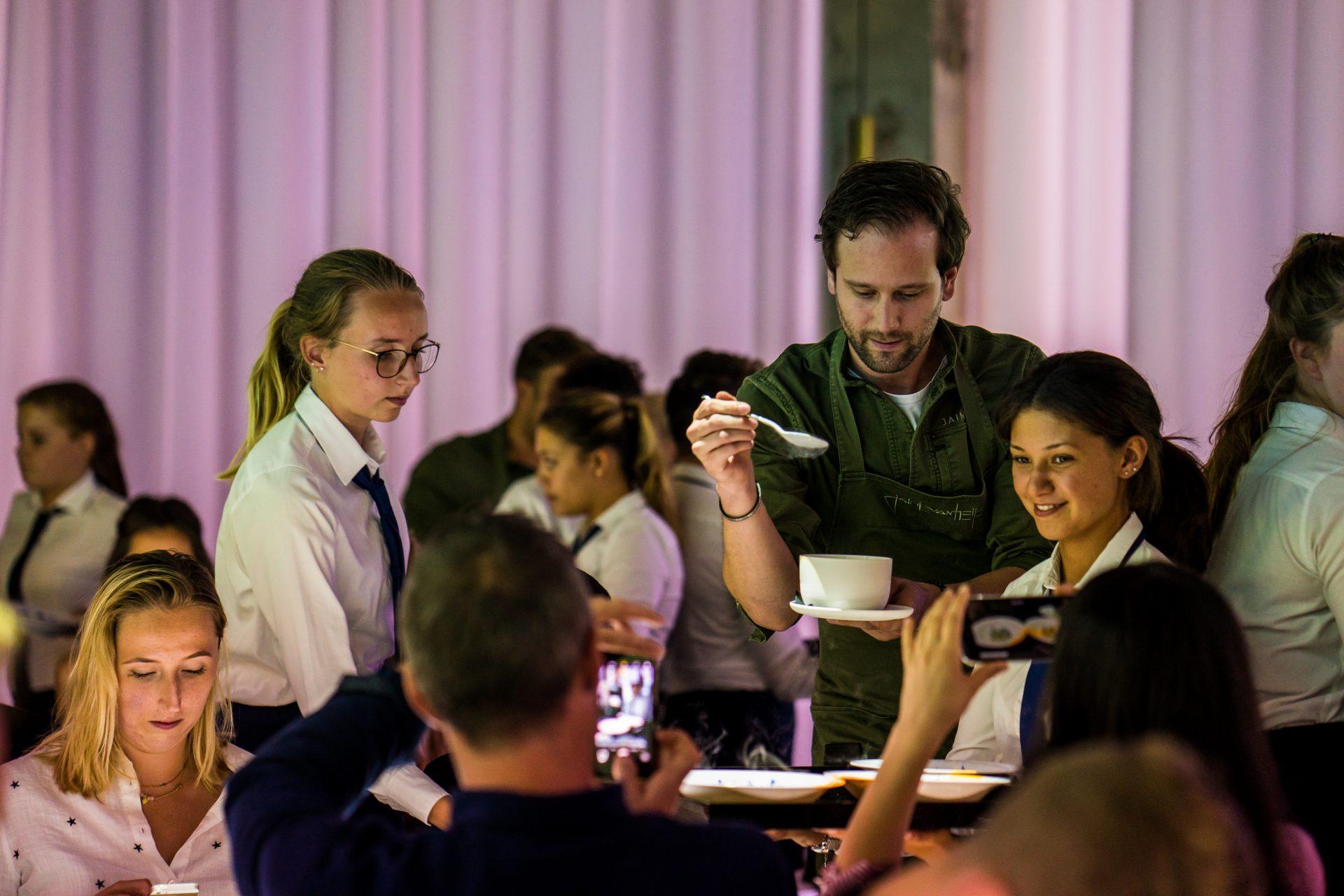 Chef Jaimie van Heije in actie